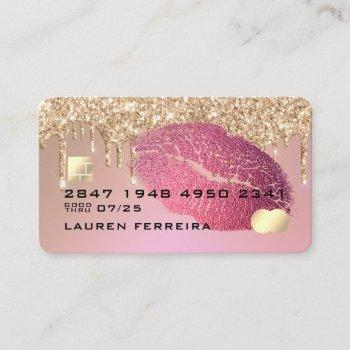 makeup and hair credit card style business card