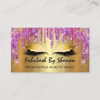makeup artist event wedding planner eyelashes business card