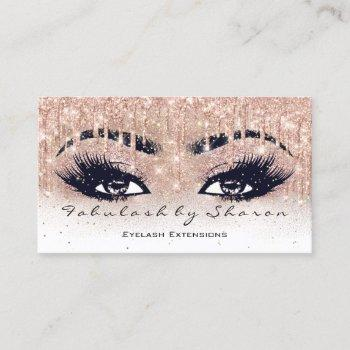 makeup artist eyebrow lash glitter drip spark ombr business card