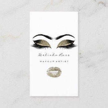 makeup artist eyes lashes glitter eyebrows lips business card