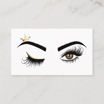 makeup artist wink eye beauty salon lash extension business card