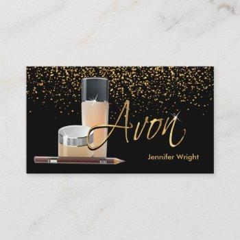 makeup - avon business card