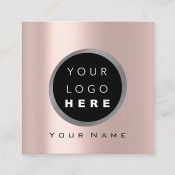 makeup beauty blogger you-tuber rose logo social square business card