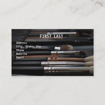 makeup brushes business card
