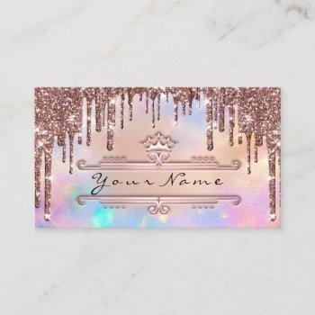 makeup event planner rose crown holograph crown business card