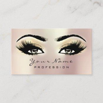 makeup eyebrow eyes lashes glitter spa champaigne business card