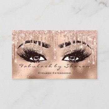 makeup eyebrow lashes glitter drip spark glas gold business card