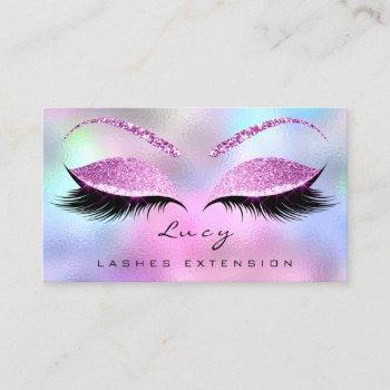 makeup eyebrow name lash glitter pink purple business card
