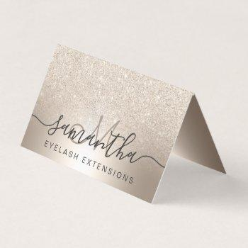 makeup hair chic gold glitter ombre eye aftercare business card
