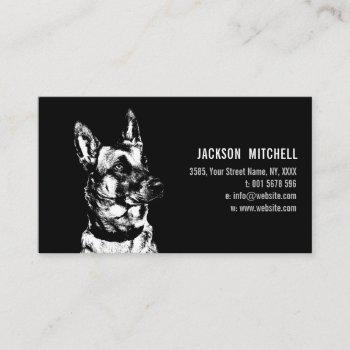 malinois - belgian shepherd -mechelaar business card