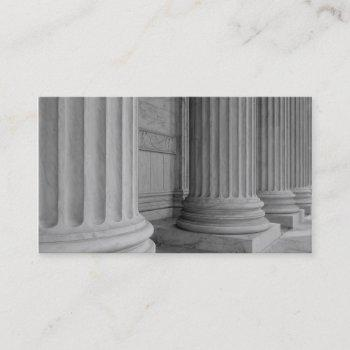 marble columns business card