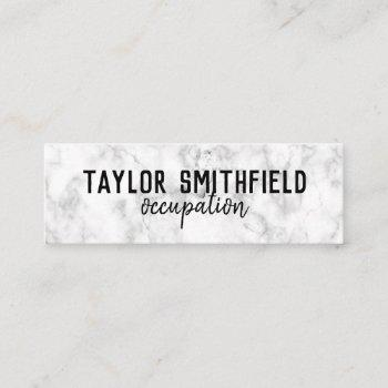 marble grunge mini business card