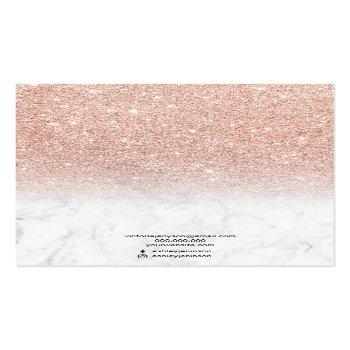 Small Marble Rose Gold Glitter Jewelry Earring Display Business Card Back View