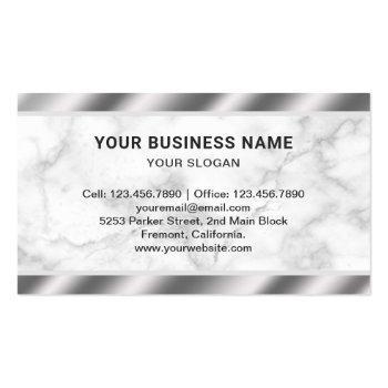 Small Marble Steel Pistol Gun Shop Gunsmith Firearms Business Card Back View
