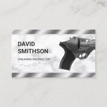 marble steel revolver gun shop gunsmith firearms business card