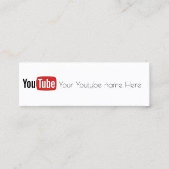 marble youtube business card