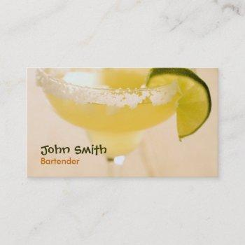margarita bartender business card