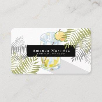 margarita bartender mixologist business card