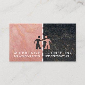 marriage counseling business cards