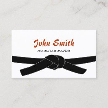 martial arts black belt dojo professional business card