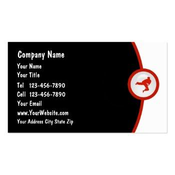Small Martial Arts Business Card Front View