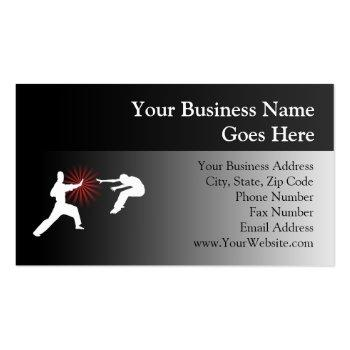 Small Martial Arts Energy Silhouette Business Card Front View