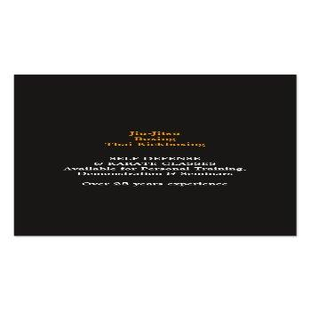 Small Martial Arts Karate Business Card Back View