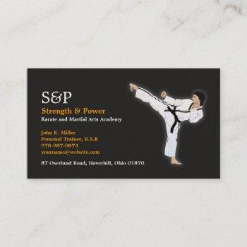 martial arts karate business card
