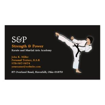 Small Martial Arts Karate Business Card Front View