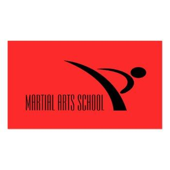 Small Martial Arts Karate Self Defense Business Card Front View