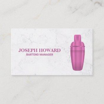 martini shaker business card