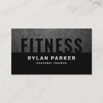 masculine fitness personal trainer rough dark business card