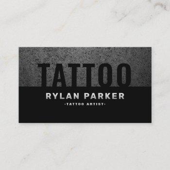 masculine tattoo artist rough dark business card