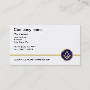 masonic business card