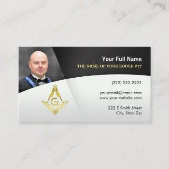 masonic business cards black gold freemason photo