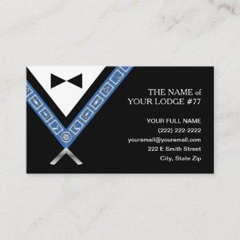 masonic business cards | freemason officer jewels