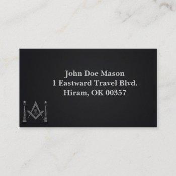 masonic business cards - memento mori