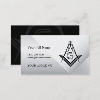 masonic card business card templates | freemason