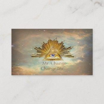 masonic life (cosmos) business card