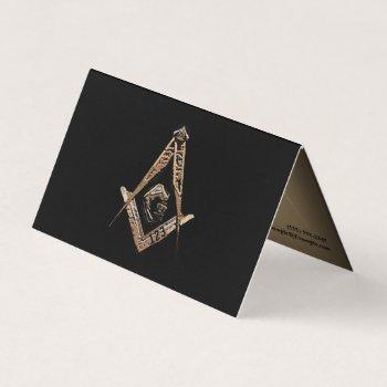 masonic minds (golden) business card