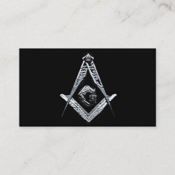 masonic minds (silvery) business card