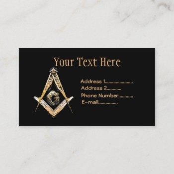 masonic minds (yellowish) business card