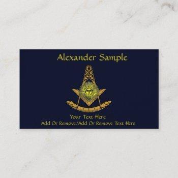masonic sun business card