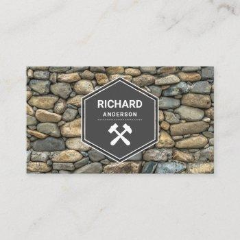 masonry construction stone wall stoneworks business card