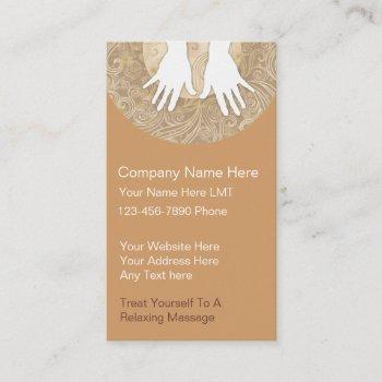 massage business cards