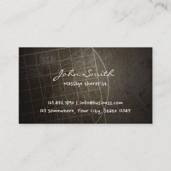 massage therapist chiropractor vintage business card