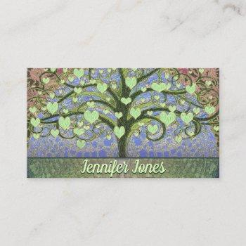 massage therapist tree of life business card