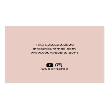 Small Massage Therapy Healing Hands & Lotus Flower Spa Square Business Card Back View