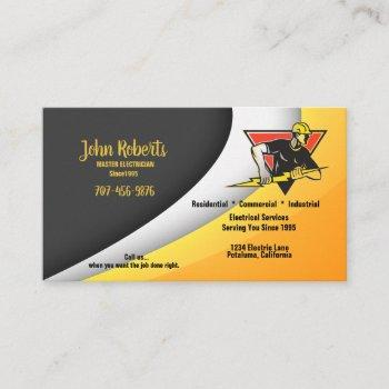 master electrician business card