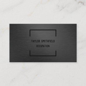 matte black business card
